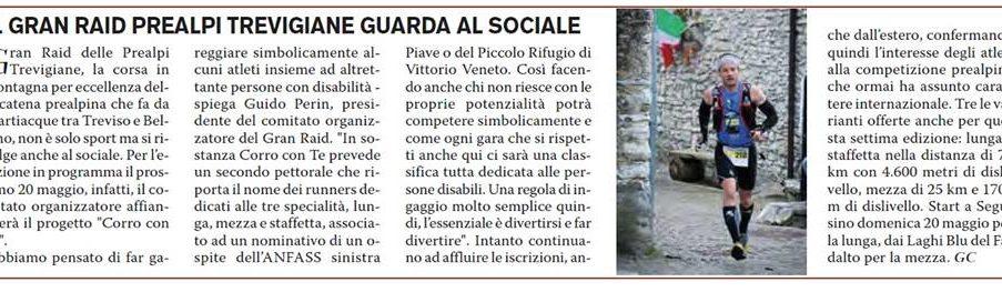 Il Gran Raid delle Prealpi Trevigiane parla al sociale